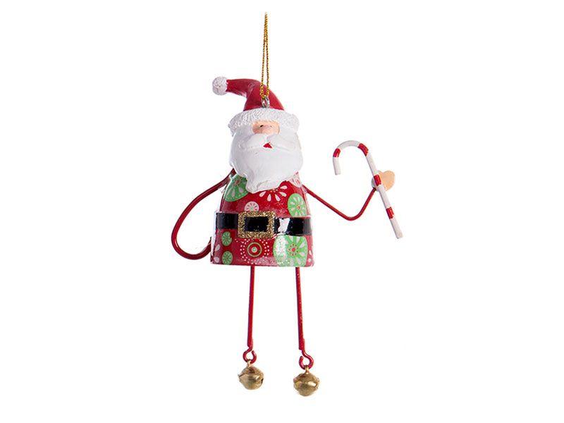 80ea7e9254f Adornos navideños colgantes para el árbol de navidad realizadas en metal y  con colores propios de dicha fiesta