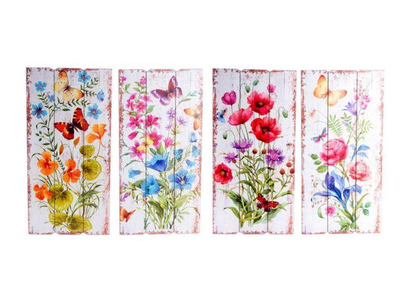 baratos cuadro de madera flores 4 modelos exclusivos para tu hogar ...