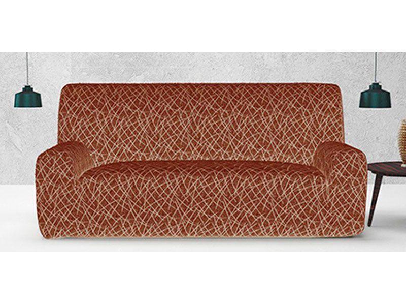 Funda Adaptable De Tejido Elastico Padua Para Sofa De 1 2 3 O 4 Plazas Color Rojo
