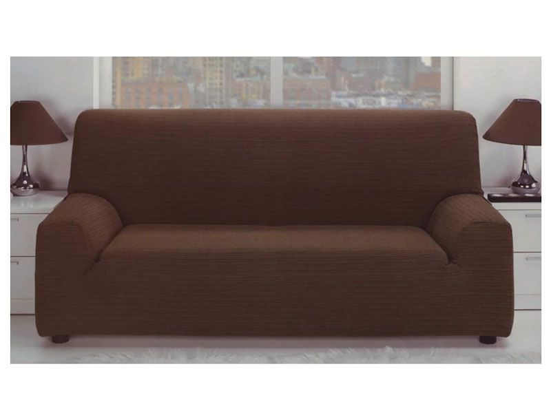 Fundas Para Sofa Elastica Jacquard Color Malva Con Tejido Rustico Para 1 2 3 O 4 Plazas