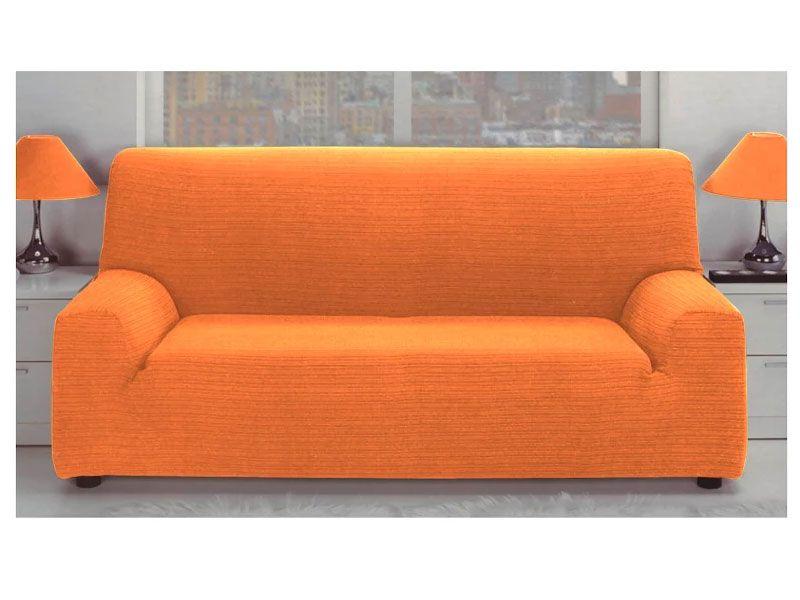 Fundas Para Sofa Color Naranja Elastica Jacquard Con Tejido Rustico Para 1 2 3 O 4 Plazas