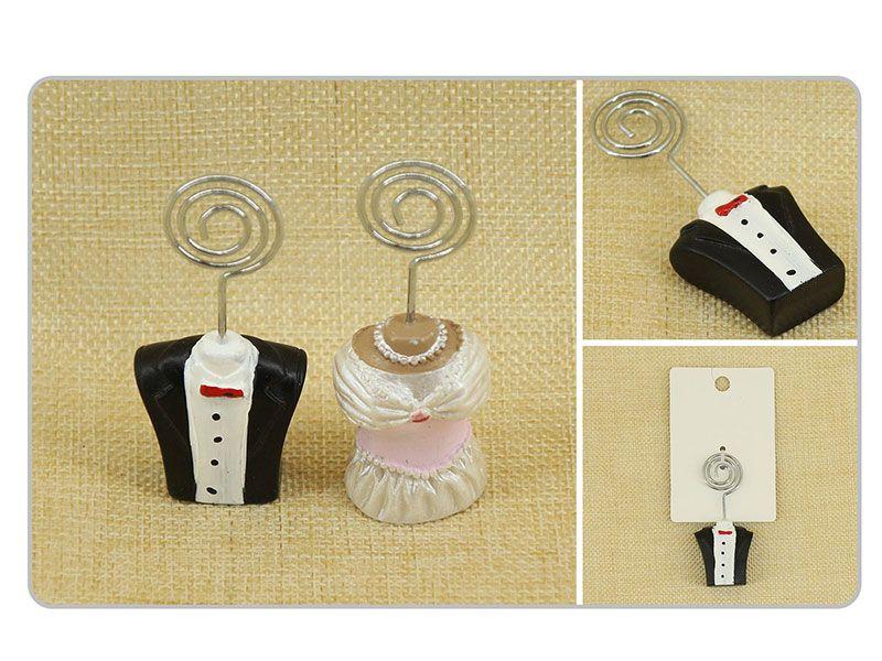 Comprar Portatarjetas de bodas resinas novio y novia a 1.50€