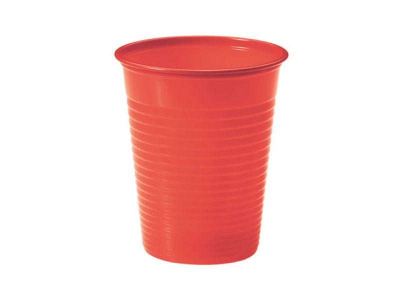 Paquete de vasos irrompibles rojos 200 cc (288uds)