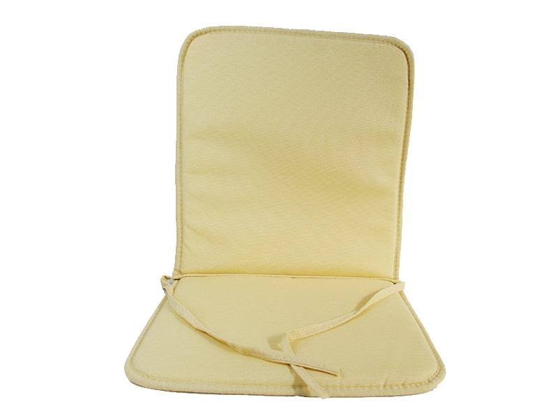 Cojín para silla con respaldo loneta liso color crudo