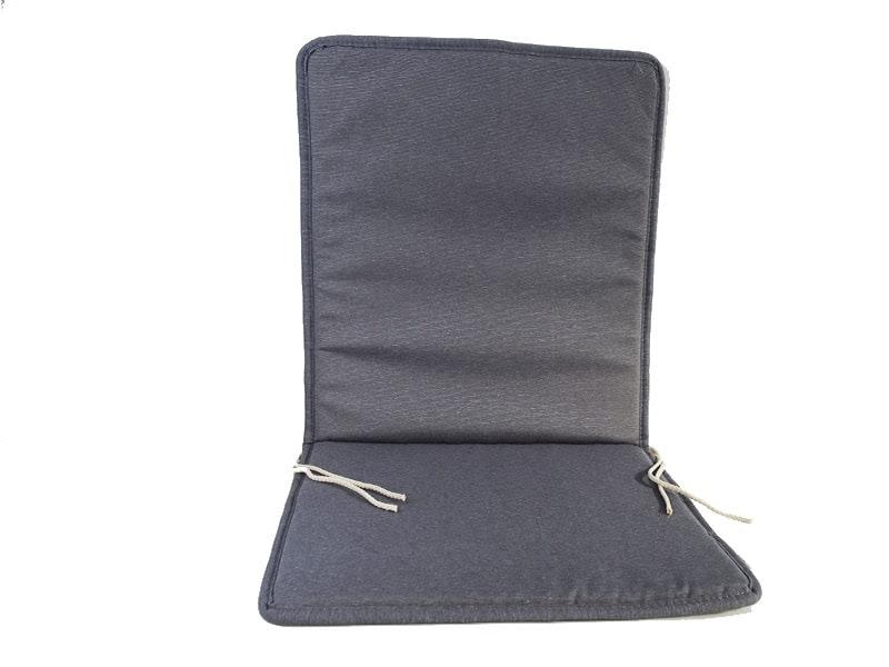 Cojín para silla con respaldo loneta liso color gris
