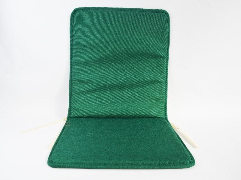 Cojín para silla con respaldo loneta lisa color verde