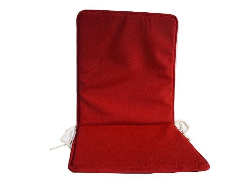 Cojín para silla con respaldo loneta liso color rojo
