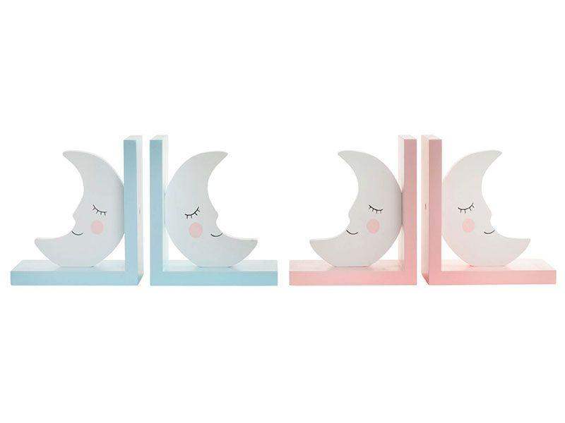 Set de 2 Sujeta libros en forma de lunas15X10X15 cm