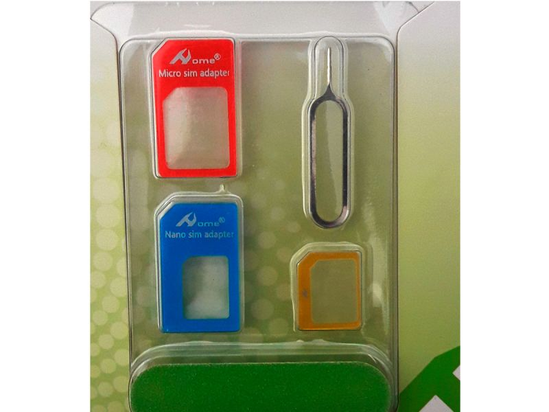 Adaptador de tarjeta móvil nano sim, micro sim en colores