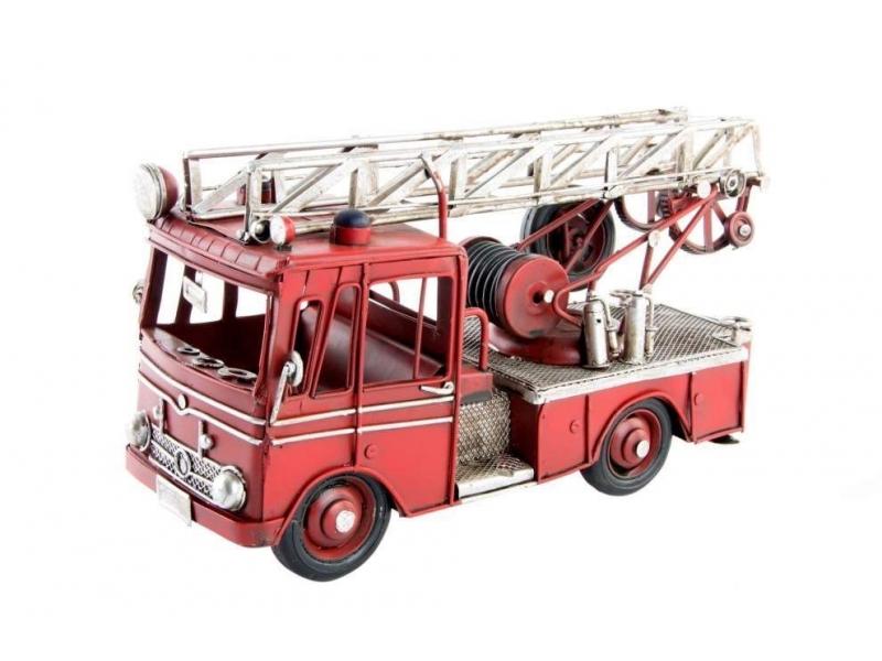 Adorno Camión de Bomberos Metal 25×10,7×14