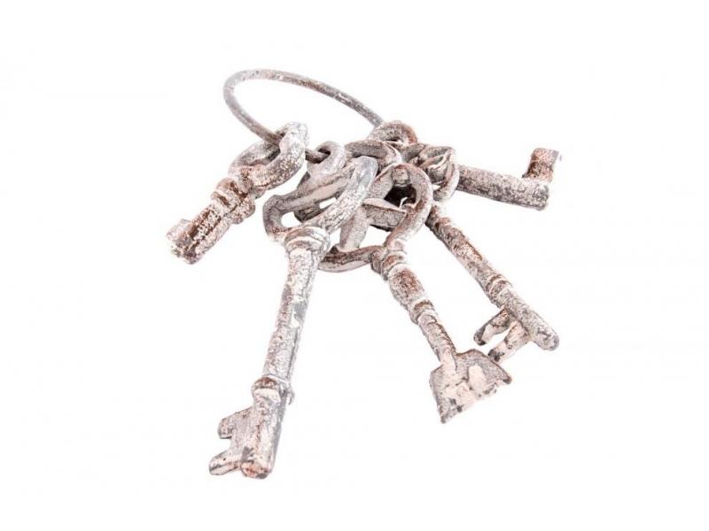 Adorno de Hierro Colado 5 Llaves de Metal Gris 16 cm