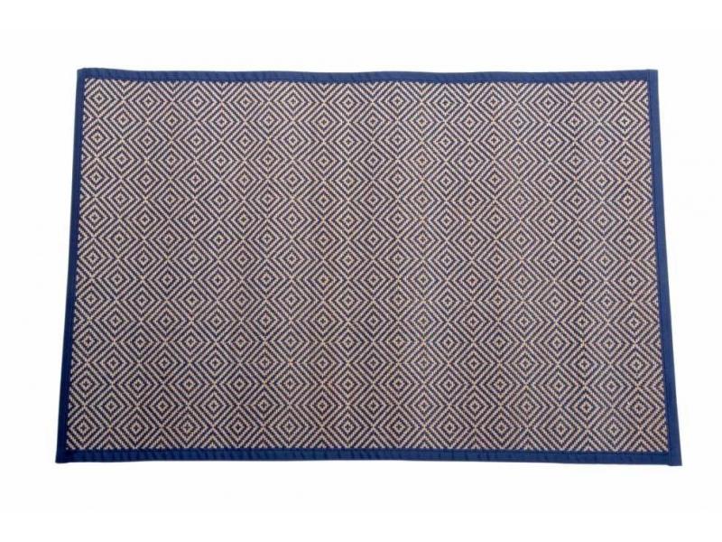 Alfombra de bamb con hilo trenzado geom trico for Alfombras de hilo