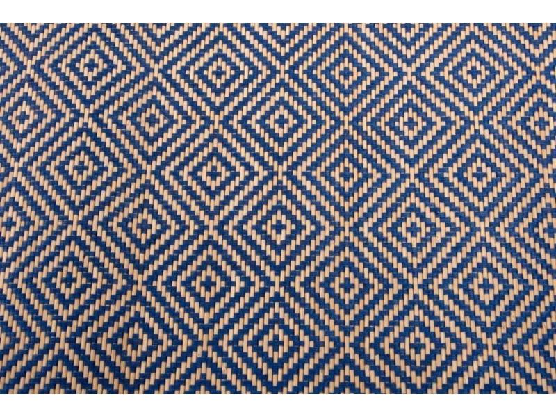 Comprar alfombra de bamb con hilo trenzado geom trico - Alfombras de bambu a medida ...