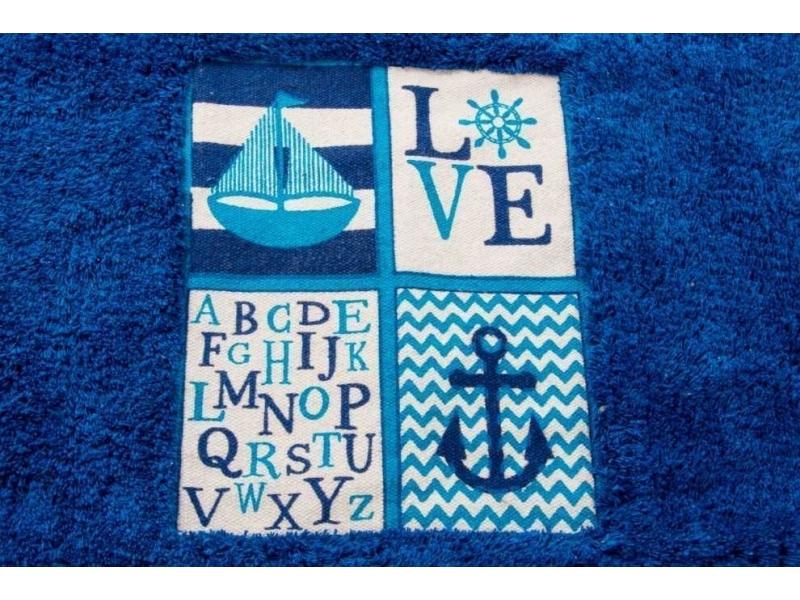 Alfombra de algod n azul marino a - Alfombras de algodon ...