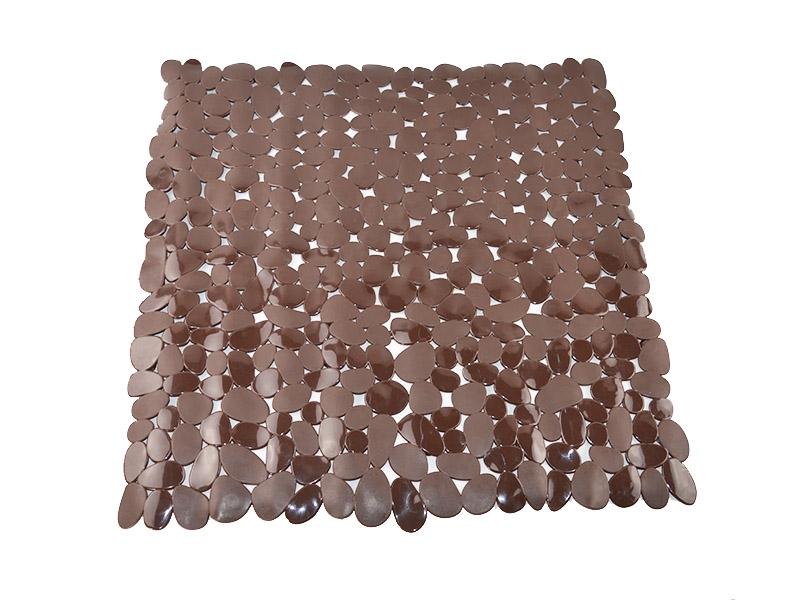Alfombra de ba o pvc chocolate 53 cm x 53 cm - Alfombra de pvc ...