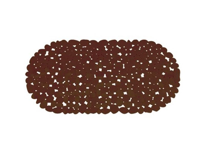 Alfombra de ba o pvc piedra chocolate euros - Alfombra de pvc ...