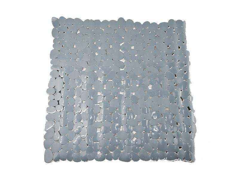 Alfombrilla de baño pvc piedra gris