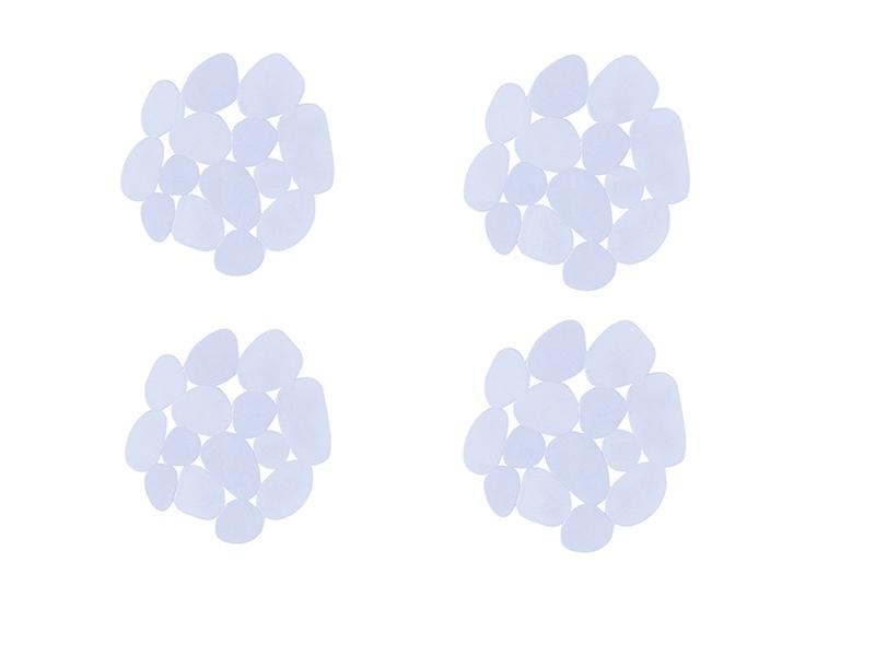 Antideslizante de baño piedra transparente pvc 4 unidades