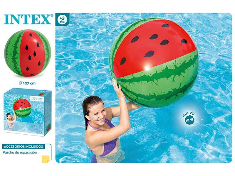 Pelota hinchable con forma de sandia o watermelons con una dimensión de 107 cm de diámetro