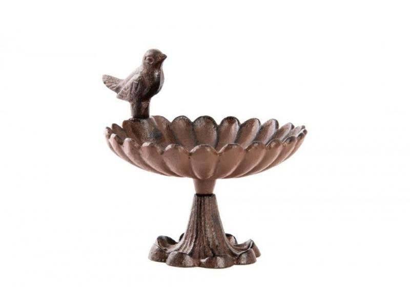 Bebedero de Hierro Colado Pájaro 17×14,5×14,5