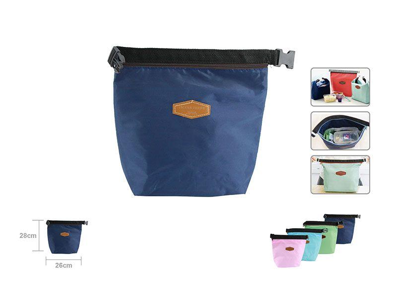 Bolsa Térmica Porta Alimentos fríos o calientes en color azul oscuro