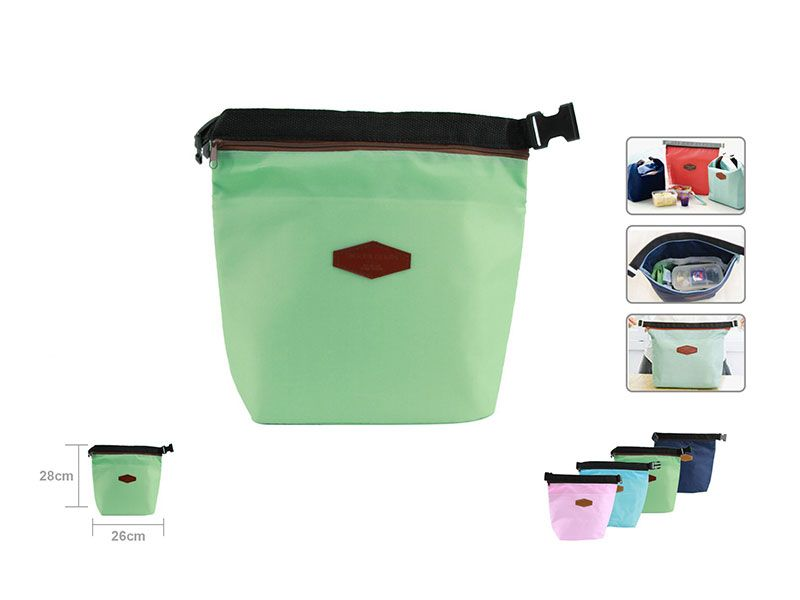Bolsa Térmica Porta Alimentos fríos o calientes en color verde pistacho