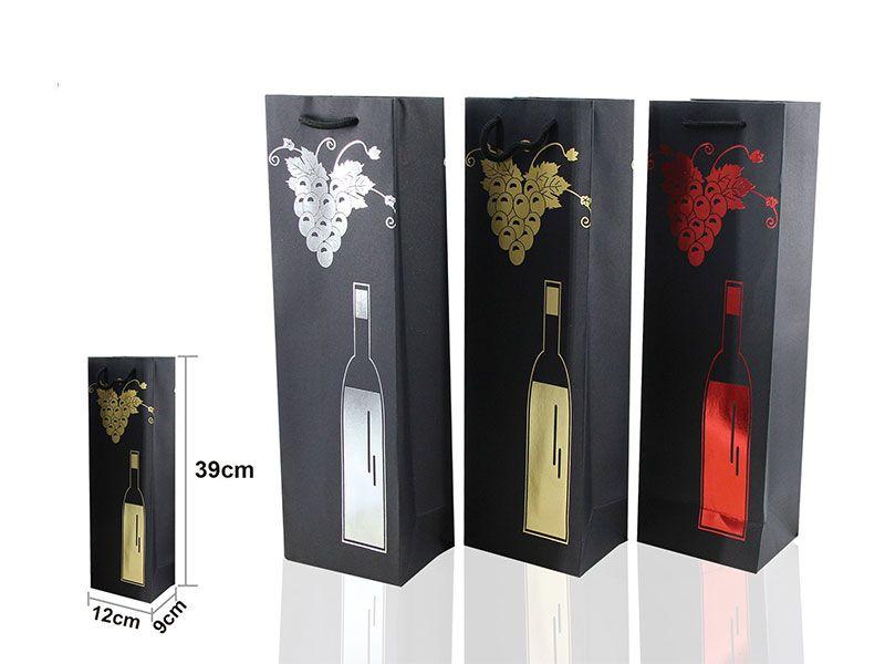Bolsa de vino regalo 39x12 cm