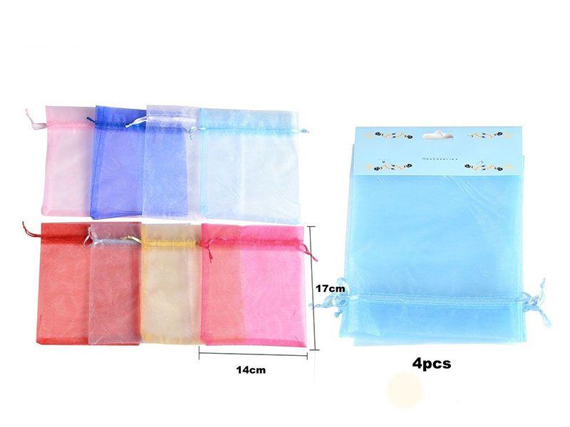 Bolsa de organza 14 cm x 17 cm para regalos disponibles en 8 colores para bodas, bautizos o comuniones