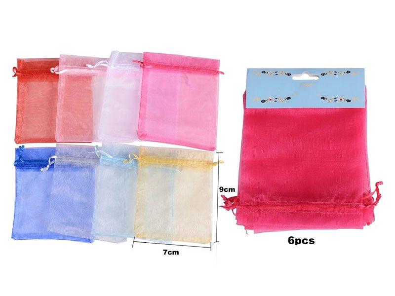 Bolsa de organza para regalos disponibles en 8 colores para bodas, bautizos o comuniones