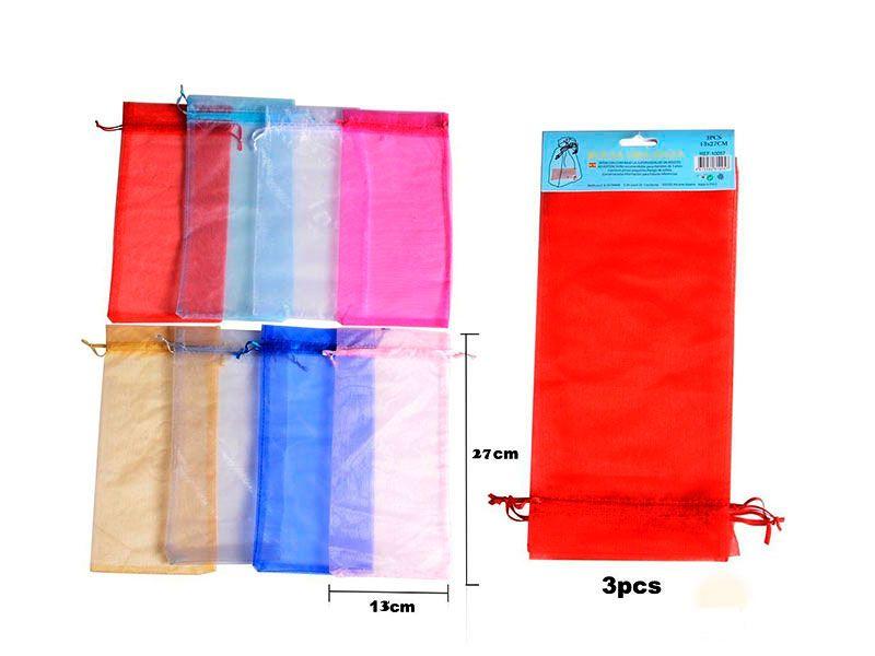Bolsa de organza rectangular para regalos disponibles en 8 colores para bodas, bautizos o comuniones