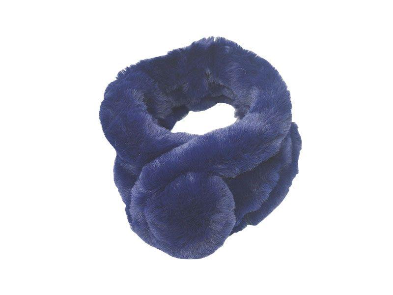 zapatos deportivos 31cbf 87b30 Estola o bufanda para el cuello realizado en piel sintética tacto suave y  sedoso color azul marino