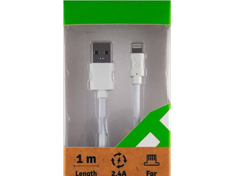 Cable blanco  de carga y sincronización con certificación MFI Apple (iPhone 7 Plus, 7, 6 Plus, 6, 5s, 5c, 5, iPad Air, iPad mini, mini 2, iPad 4ª generación y iPod nano 7ª generación)