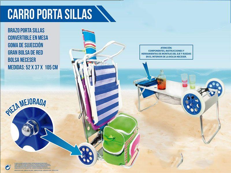 Decoraci n y moda para el hogar con catay home - Carro porta sillas playa ...