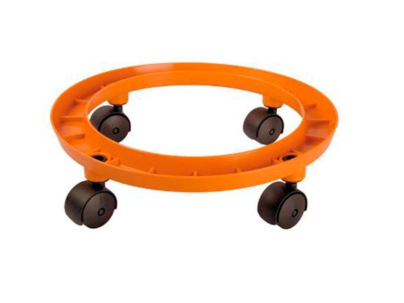 Carro porta bombonas de gas butano naranja ruedas for Carritos con ruedas para cocina