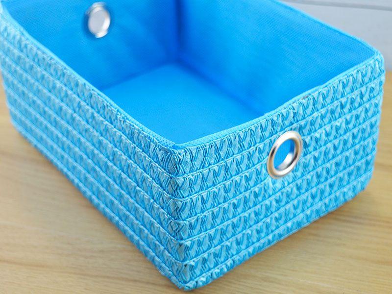 Cesta realizada en pl stico y tela para el ba o modelo - Cestos para el bano ...