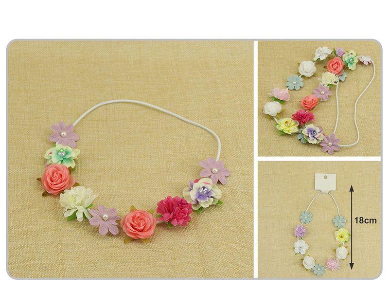 cinta de goma elástica con flores decorativas 18 cm