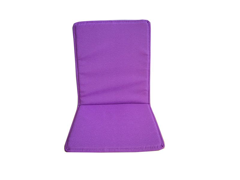 Cojín para silla con respaldo loneta liso color Malva