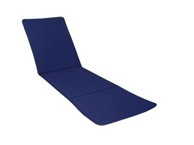 Cojín para tumbona color liso azul 185x50x3 Cm