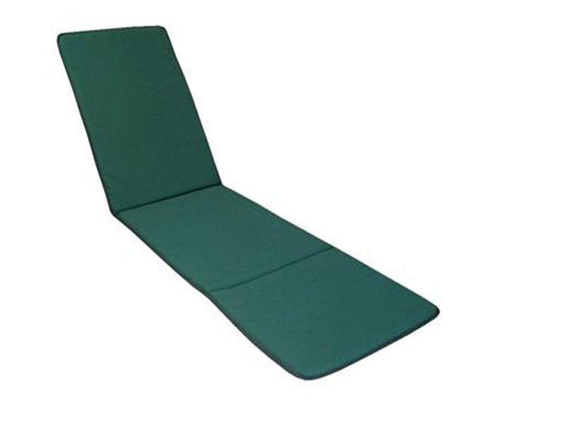 Cojín para tumbona color liso verde 185x50x3 Cm