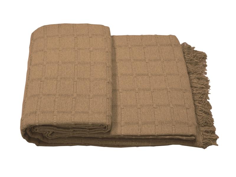 Colcha Multiuso tejido rústico  Marrón  tierra 230×260
