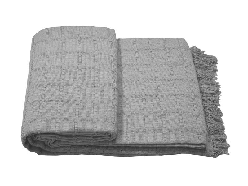 Colcha Multiuso tejido rústico  Gris 230×260