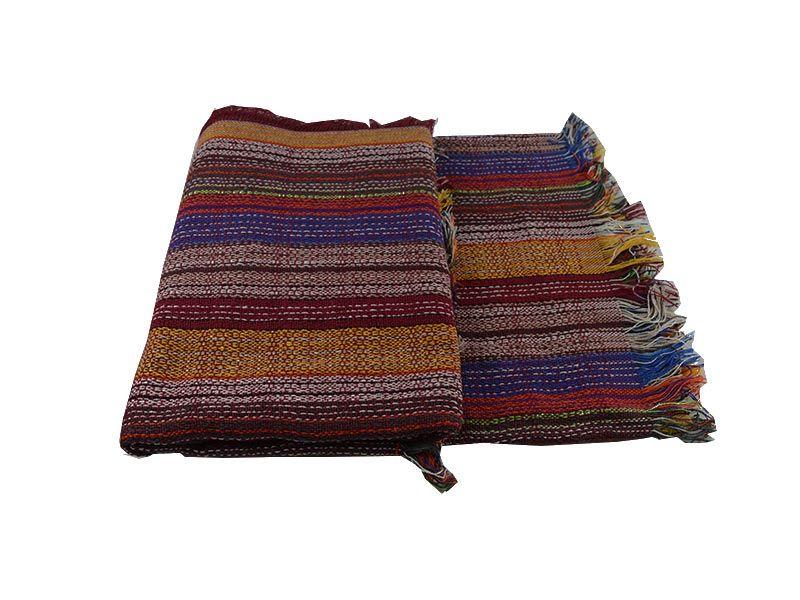 Colcha Multiuso tejido rústico multicolor 180×125 cm