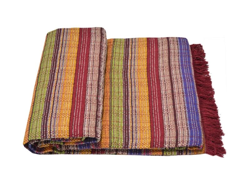 Colcha Multiuso Multicolor rústico 230×260