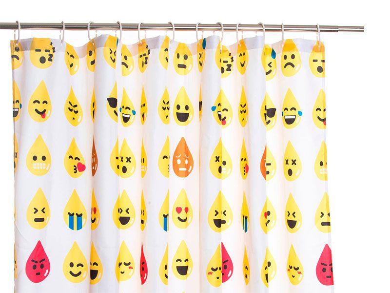 Cortina de baño emoticonos 180x200 cm