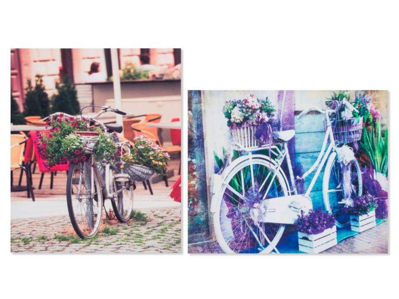 Cuadro de lienzo con pintura de bicicleta 2 modelos distintos