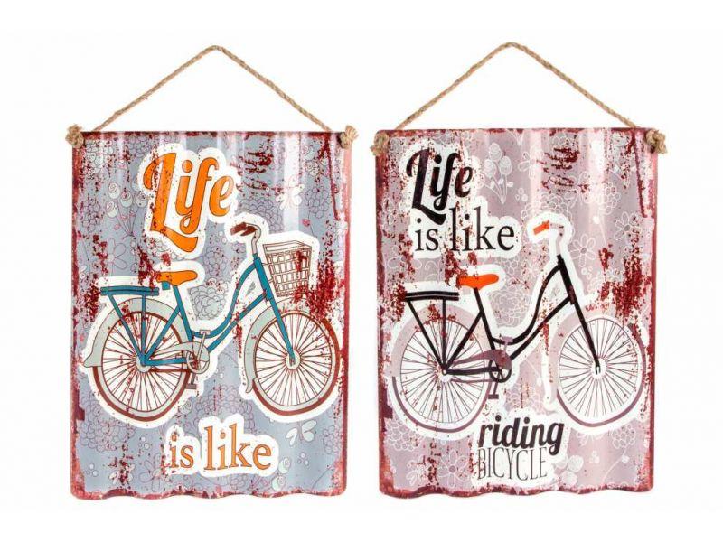 Cuadro de metal con dibujo de bicicleta 2 modelos distintos