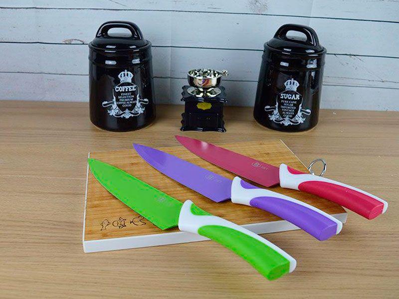 Cuchillo de cocina para carne de acero inox y cer mica con funda protectora euros - Protector antisalpicaduras cocina ...