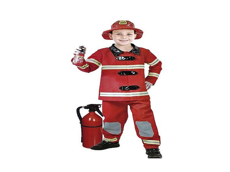 Disfraz de niño bombero 3 piezas 7/10 años