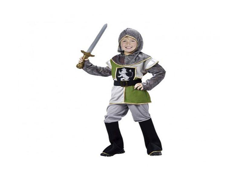 Disfraz caballero medieval niño 4 piezas 7/9 años