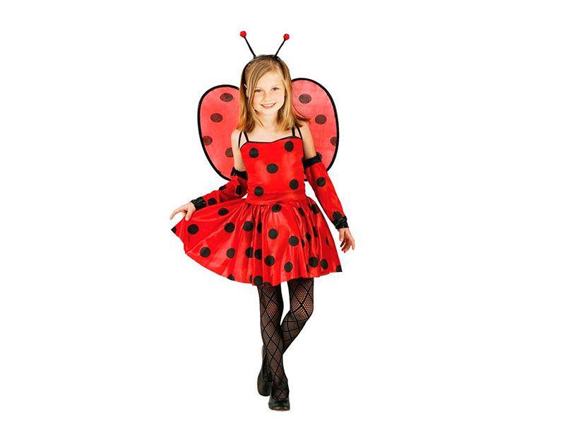 Disfraz de Mariquita Ladybug para nia de 24 aos infantil para